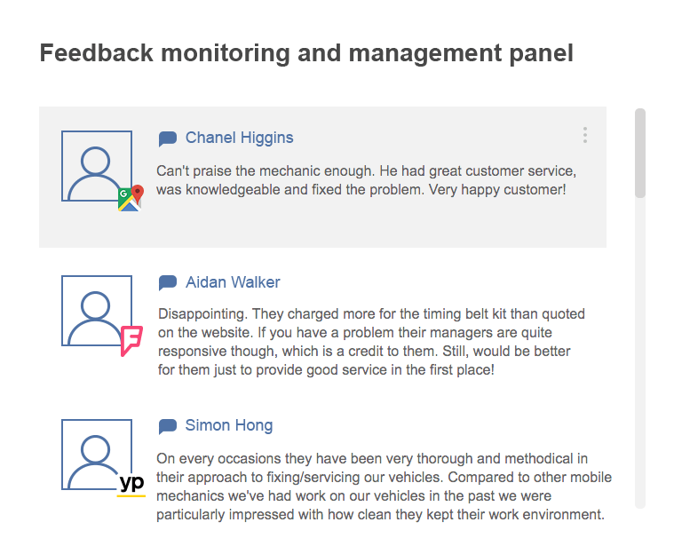 feedback monitoring