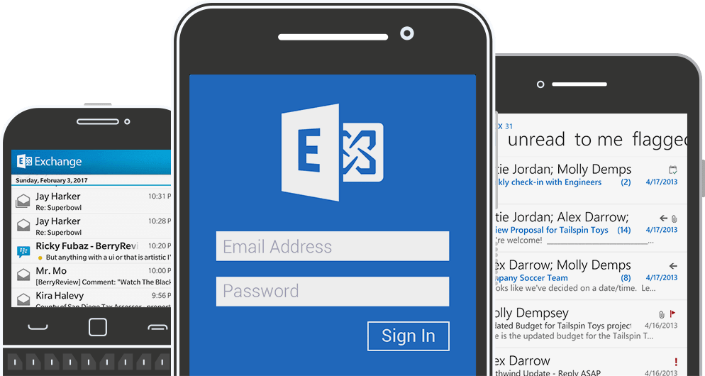 email exchange mobile