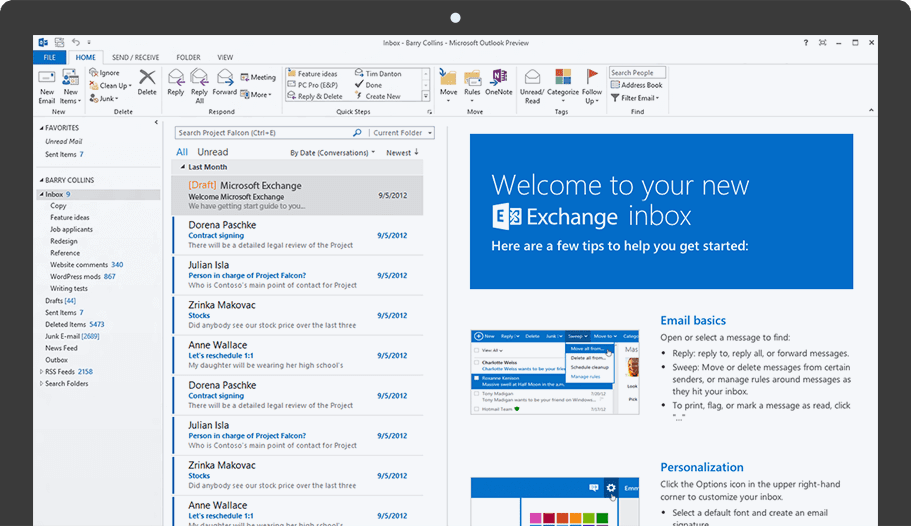 Email Exchange - Microsoft Mail Platform | CrazyDomains.com