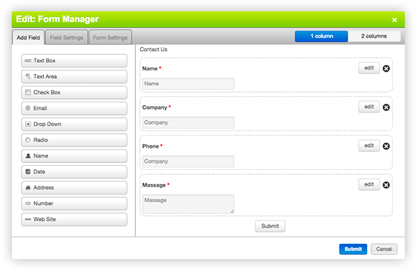 form manager