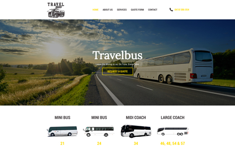 Travelbus Web Design