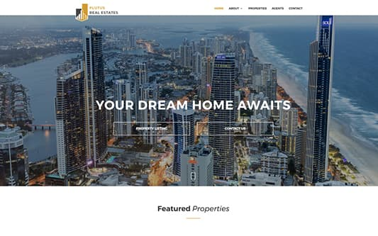 Plutus Real Estate Web Design