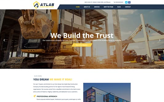 Atlas Construction Web Design